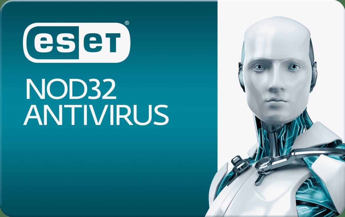 ESET NOD32 Antivirus, на 12 месяцев или продление на 20 месяцев, для защиты 4 объектов