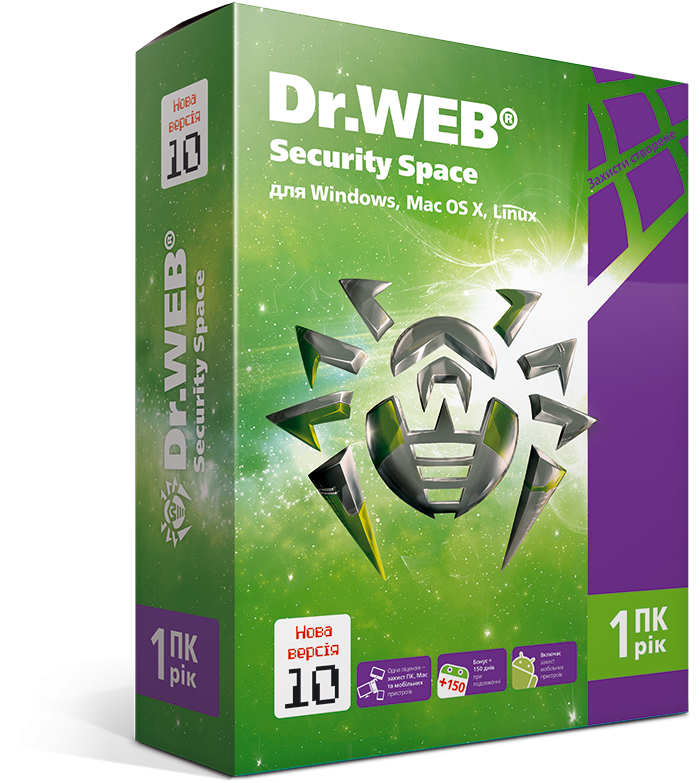 Dr. Web Security Space, цифровая лицензия, на 24 месяца, на 1 ПК