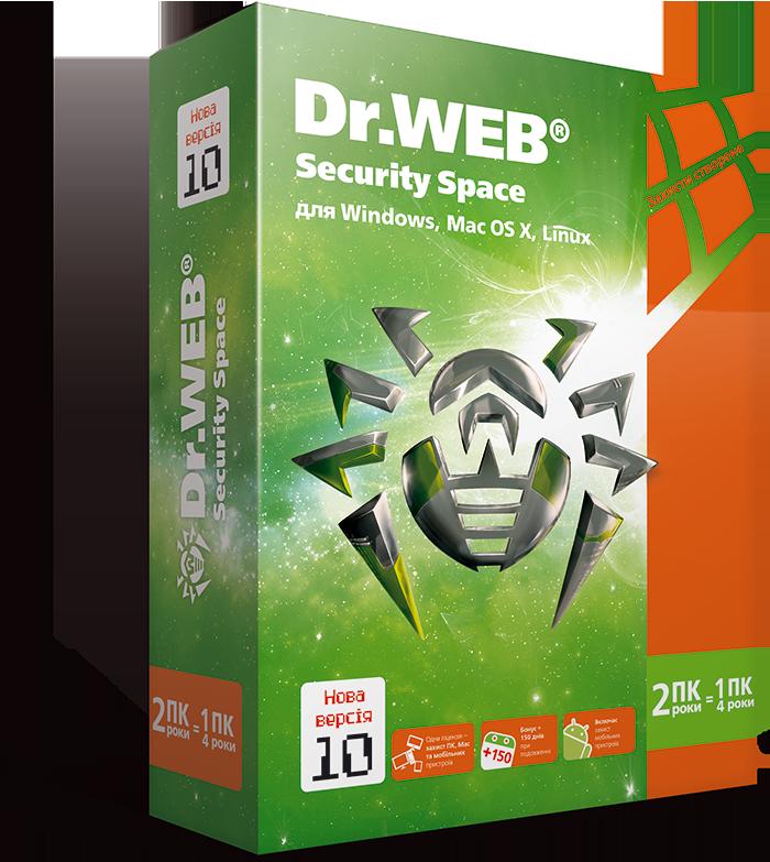 Dr. Web Security Space, цифровая лицензия, на 24 месяца, на 2 ПК