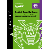 Dr. Web Security Space, продление лицензии, на 12 месяцев, на 1 ПК