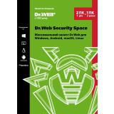 Dr. Web Security Space, продление лицензии, на 12 месяцев, на 2 ПК